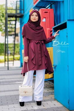 BLOUSE BELLA - PLUMBERRY
