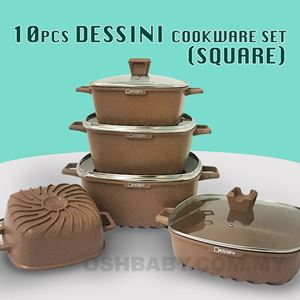 10PCS DESSINI COOKWARE SET (SQUARE)