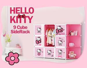 HELLO KITTY 9C DIY WARDROBE w CORNER RACK (KT9CR)