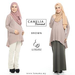 Camelia Diamond Blouse : Brown