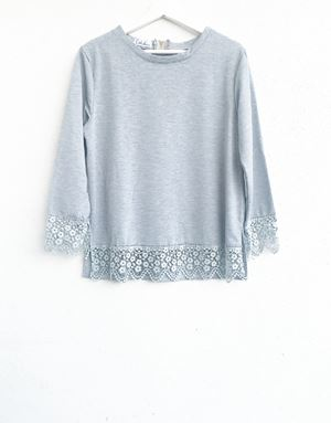 DINDA LACE SHIRT IN GREY