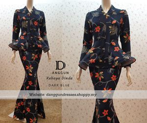 Kebaya Dinda Dark Blue
