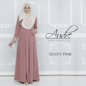 Audre Lacey Dress : Dusty Pink