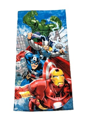 @  CARTOON BATH TOWEL  - AVENGERS BLIE  ( Size 140*70cm )
