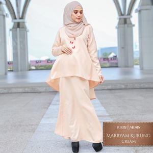 Maryam Kurung - Cream
