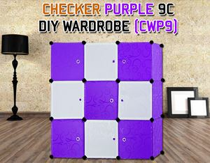 CHECKER PURPLE 9C DIY WARDROBE (CWP9)