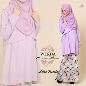 Werda Blouse : Lilac Purple
