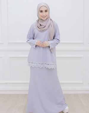 DIAN MODERN KURUNG IN DUSTY GREY