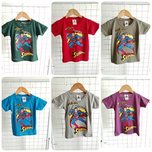 T-Shirt Boy Short Sleeve Superman Kaa Boom: Size 2-8 (1 - 6 tahun)