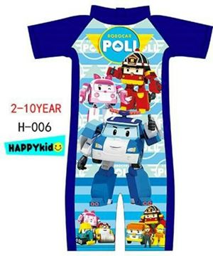 @  H-006 ROBOCAR POLI BLUE SWIMSUIT