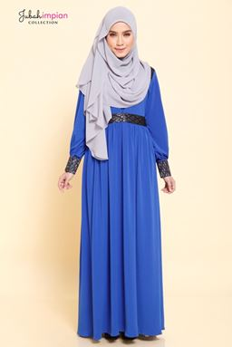 JUBAH EVELYNN ( Royal Blue )