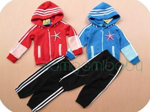 D4311 ADIDAS RED TRACKSUIT SET