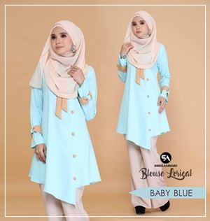 BLOUSE LORIEAL ( BABY BLUE )
