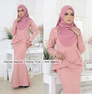 Peplum Asyira Pleated Dusty Pink