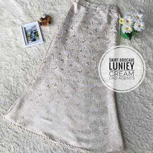 Skirt Brocade Luniey Cream
