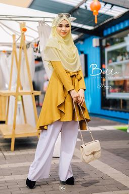 BLOUSE BELLA - GOLD MUSTARD