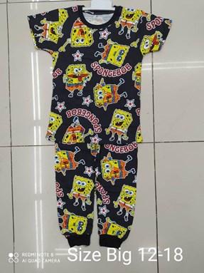 Pyjamas SPONGEBOB BLACK EDITION:  Big Size 12 -18