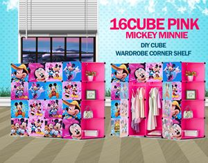 Mickey Minnie Pink 16C DIY Cube w Corner Rack (MC16CP)