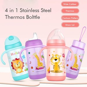4 in 1 Stainless Steel Thermos Feeding Bottle