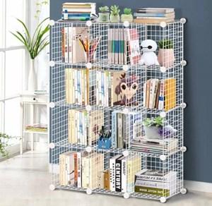 Artist Cube Storage Wire Cabinet Metal DIY 12cube /9Cubes Shelves Shelf Bookcase Organizer