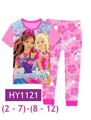HY1121 Barbie Pyjamas (2 - 7 tahun)(8 - 12 tahun)