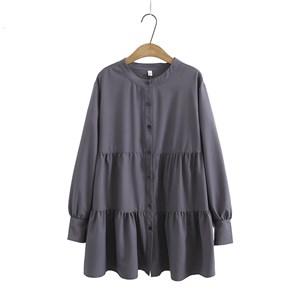 Tiered Blouse (Dark Grey)