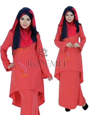 KURUNG DINA - APPLE RED