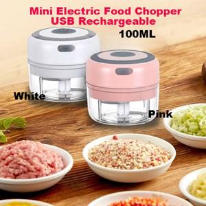 100ML Mini Electric Food Chopper Garlic Chopper Grinder Multifunction Processor Press USB Rechargeable