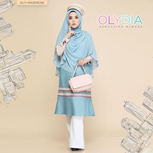 OLYDIA  SEDUCTIVE BLOUSE (OCEAN BLUE)