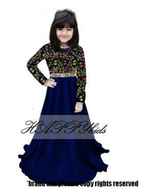 Dress Raya Songket For Girl - Biru