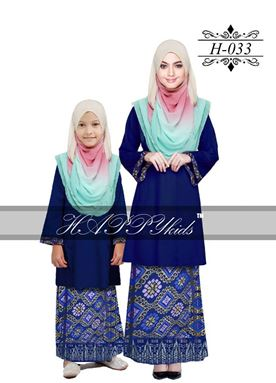 HAPPYkids 2017 Songket Exclusive GIRL ( BLUE )