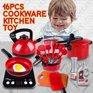 16PCS COOKWARE KITCHEN TOY