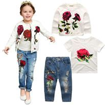 PREORDER   3 IN 1 SET  Girl Rose Embroidery Set  ( ETA END NOV-EARLY DEC )