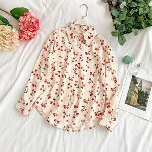 Small Cherry Printed Shirt
