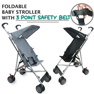 FOLDABLE BABY STROLLER WITH 3 POINT SAFETY BELT