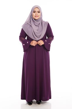 ADHANIE Jubah Purple