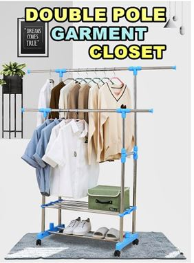 DOUBLE POLE GARMENT CLOSET