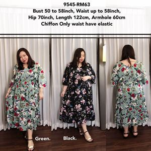 9545 *Ready Stock *Bust 50 to 58 inch/ 127-147cm
