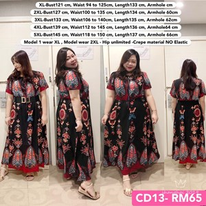 CD13 Ready Stock *Bust 48 to 57 inch/ 121-145cm
