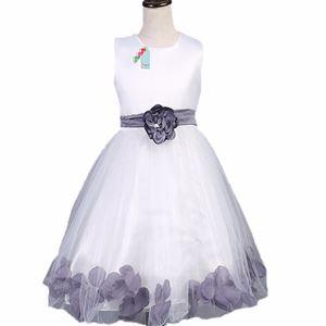 L106 WHITE DINNER DRESS ( GREY FLOWER )