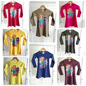 T-Shirt Girl Long Sleeve My Little Pony: Size 2-8 (1 - 6 tahun)