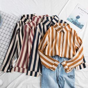 Vertical Stripe Chiffon Shirt