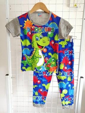 Pyjamas HAPPY DINOSAURS Grey : Kids Size 1/2