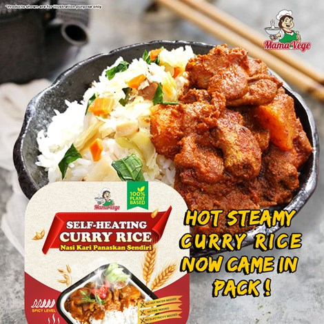 VEGETARIAN SELF-HEATING CURRY RICE 自热素食懒人咖喱饭