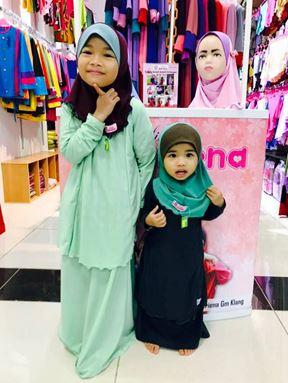 Kids Kurung Arrini ( Emerald Green)