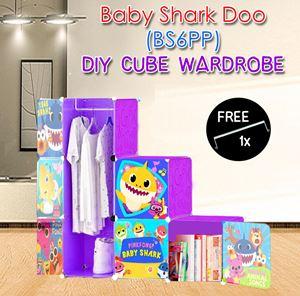 Baby Shark Doo PURPLE 6C DIY WARDROBE (BS6PP)