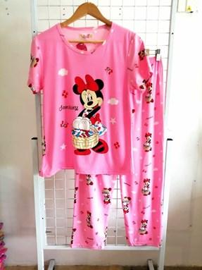 Pyjamas Dewasa Pink Minnie Sunshine