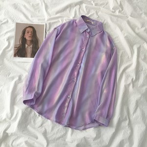DARK UNICORN COLOR BUTTON UP SHIRT