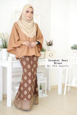 Skirt Songket Dewi Brown