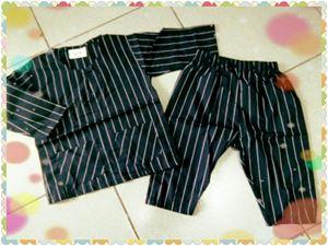 Baju Melayu Baby - Black Stripe BM001
